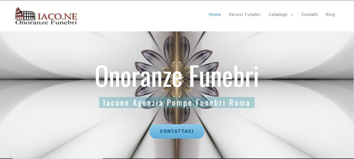 nuovo sito web onoranze funebri